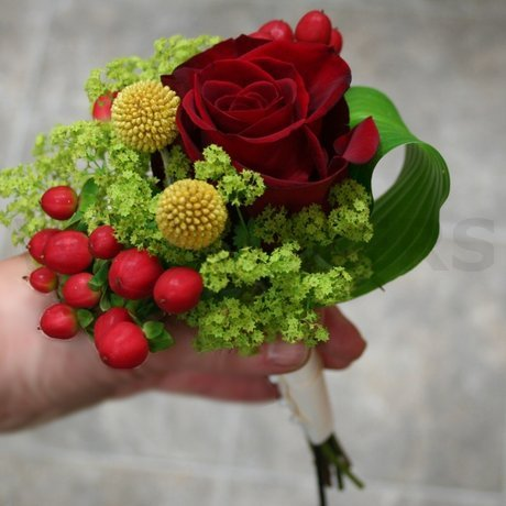 W Flowers product: Flower Girl Bouquet with Craspedia