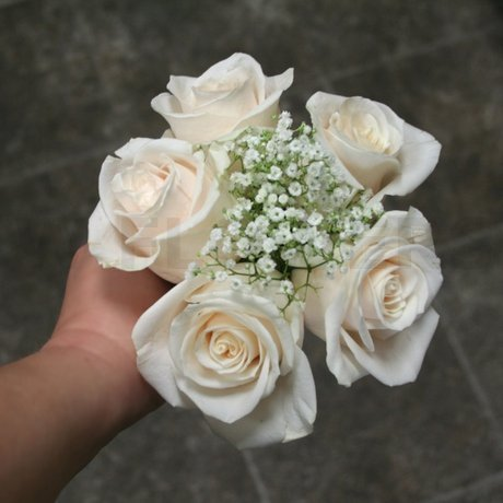 W Flowers product: Flower Girl Bouquet with White Roses