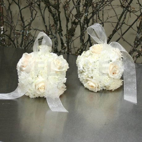 W Flowers product: Flower Girl White Pomander