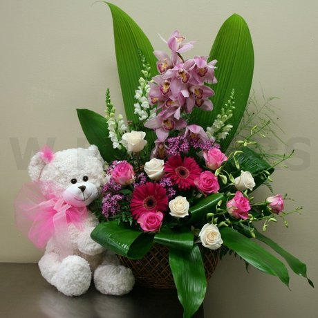 W Flowers product: Flowers for a New Baby Girl