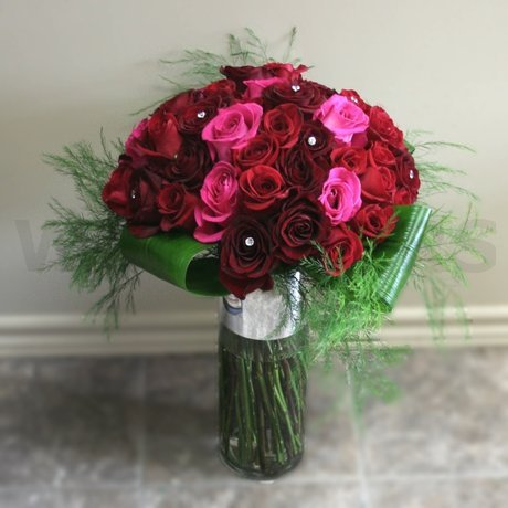 W Flowers product: Four Dozen Roses in a Vase