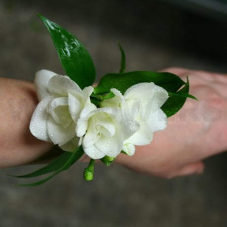 W Flowers product: Freesia Corsage