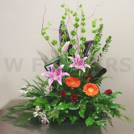 W Flowers product: Funeral Flowers in High Style