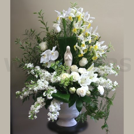 W Flowers product: Funeral Flowers with Madonna