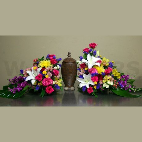 W Flowers product: Funeral Urn Arrangement