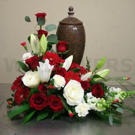 W Flowers product: Funeral Urn Flowers