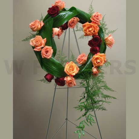 W Flowers product: Funeral Wreath Contemporary Style