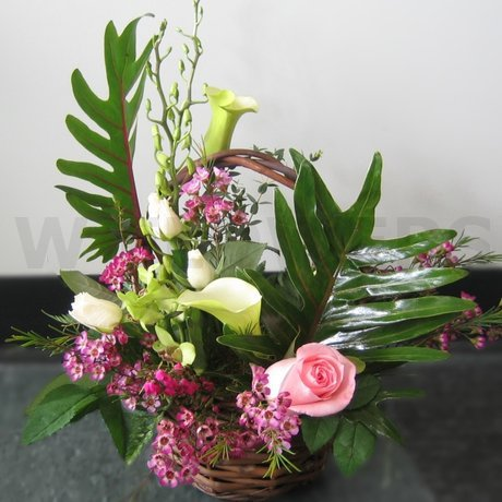 W Flowers product: Garden Beauty Basket