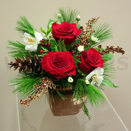 W Flowers product: Golden Christmas
