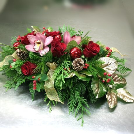 W Flowers product: Golden Christmas Centerpiece
