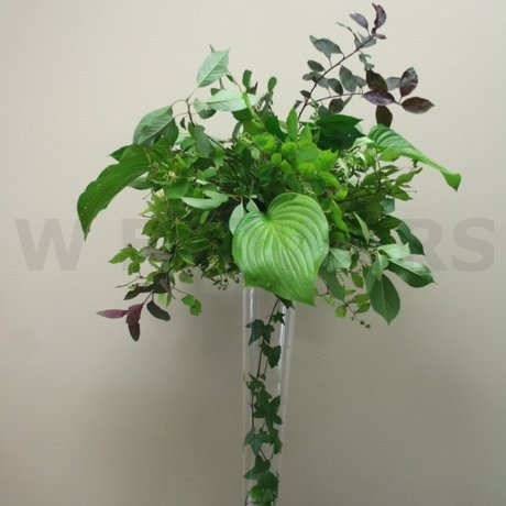 W Flowers product: Greens Tall Wedding Centerpiece