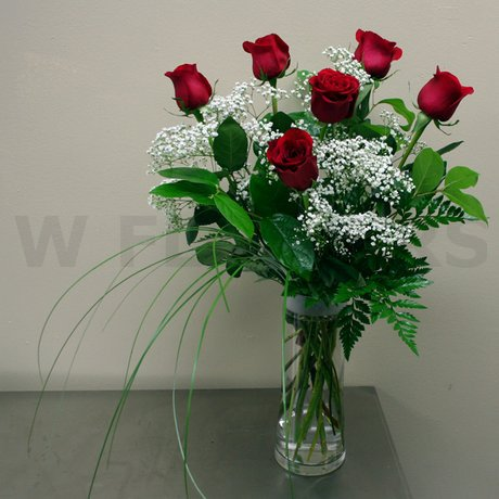 W Flowers product: Half a Dozen Roses