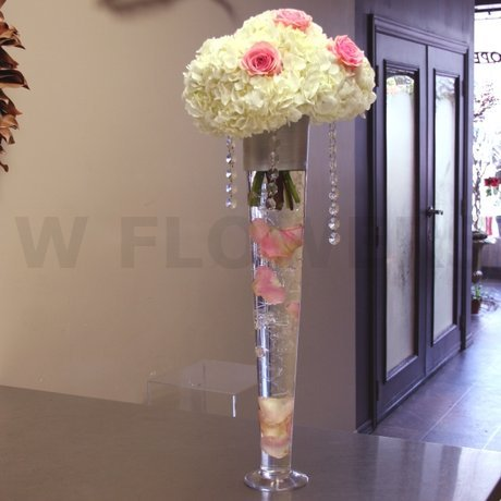 W Flowers product: Hydrangea centerpiece for wedding