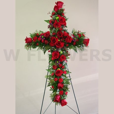 W Flowers product: In Loving Memory Cross