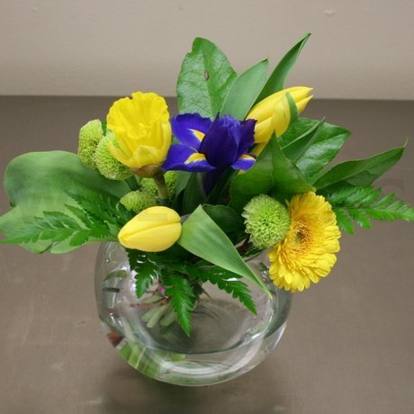 W Flowers product: Iris and Tulip Centerpiece