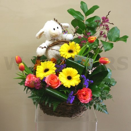W Flowers product: It is a Boy! Flower Basket