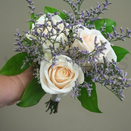 W Flowers product: Ivory and Lavender Bridesmaid bouquet