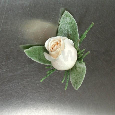 W Flowers product: Ivory Rose Corsage