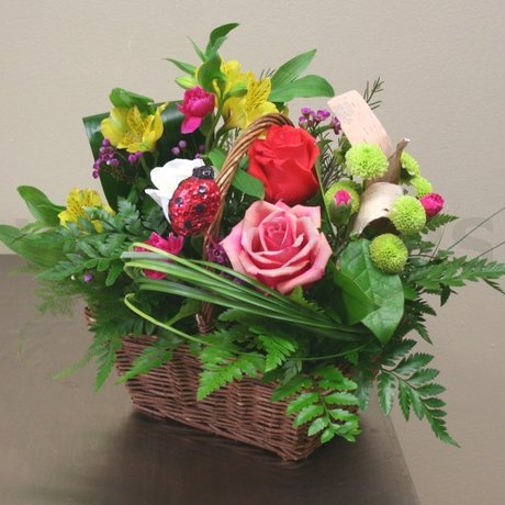 W Flowers product: Lady Bug Basket