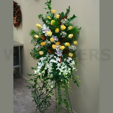 W Flowers product: Large Funeral Standing Spray in High Style