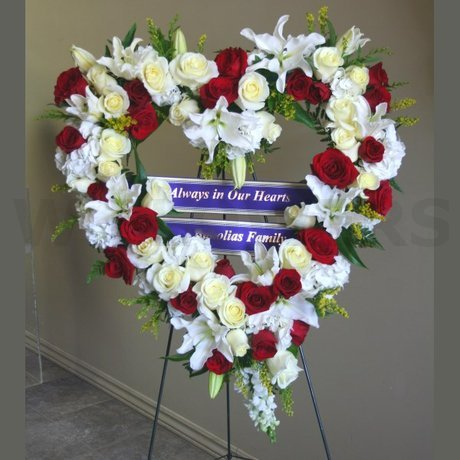 W Flowers product: Large Heart for Funeral