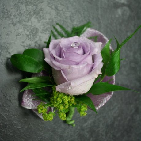 W Flowers product: Lavender Corsage