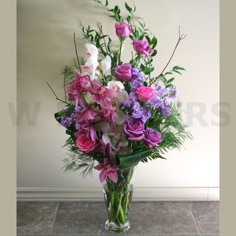 W Flowers product: Lavender Tall Vase Arrangement for Wedding