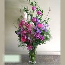 W Flowers product category: Lavender Tall Vase Arrangement for Wedding