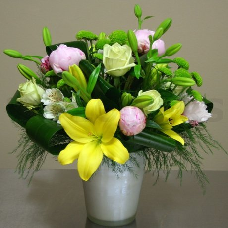 W Flowers product: Lily and Peony Centerpiece