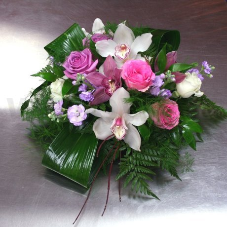 W Flowers product: Low Centerpiece with Cymbidium Orchids