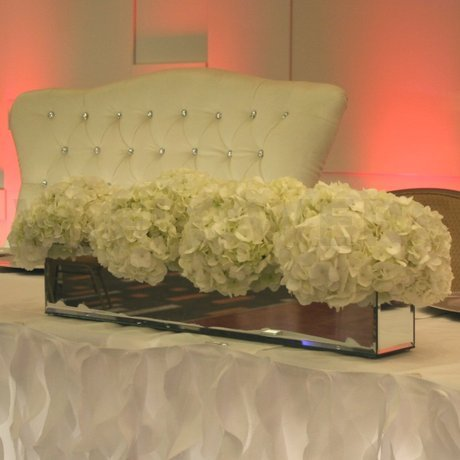 W Flowers product: Main Table White Hydrangea Decoration