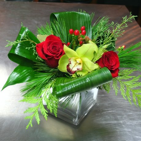 W Flowers product: Modern Christmas Centerpiece