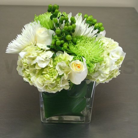 W Flowers product: Modern cube flower arrangement