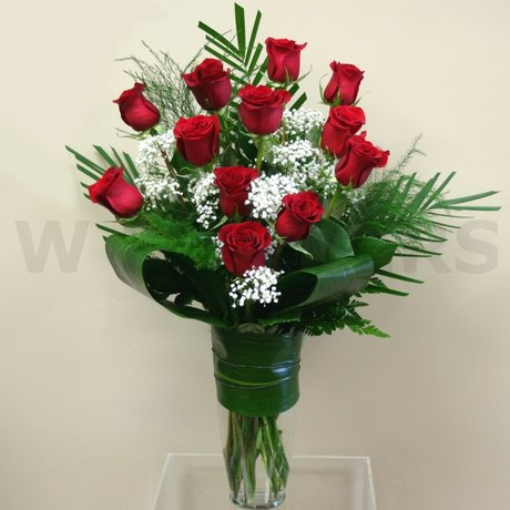 W Flowers product: Modern Dozen Red Roses