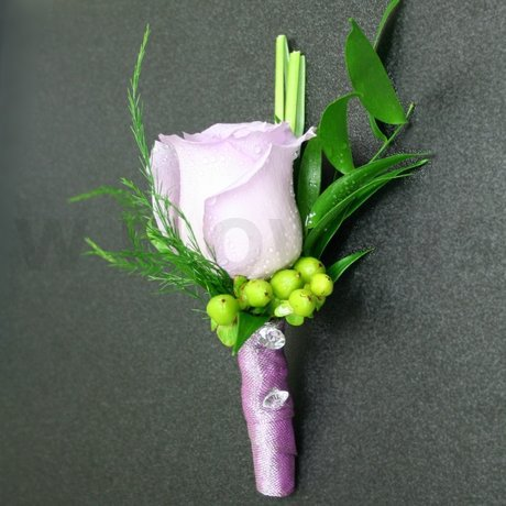 W Flowers product: Modern Purple Boutonniere
