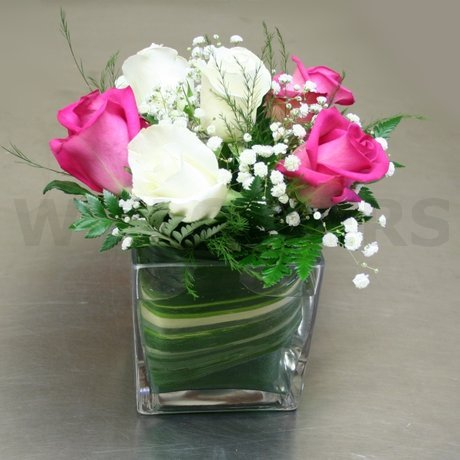 W Flowers product: Modern six roses