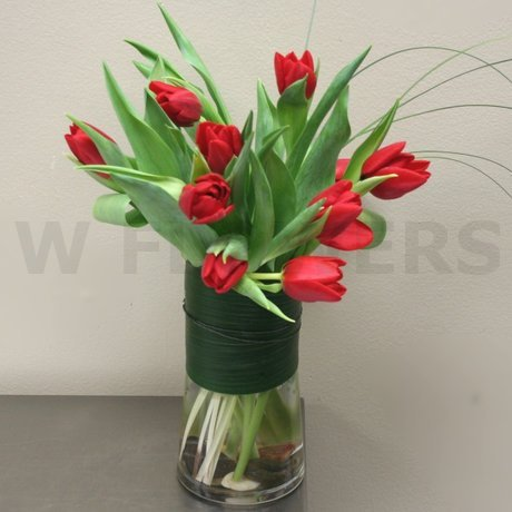 W Flowers product: Modern Tulips in Vase