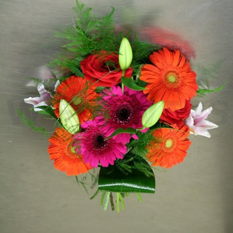 W Flowers product: Multicolored Hand Tied Bouquet