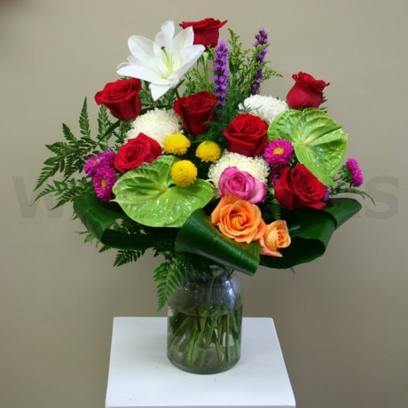 W Flowers product: Opulent Vase Arrangement