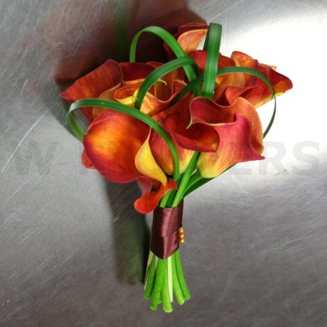 W Flowers product: Orange Calla Wedding Bouquet