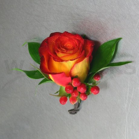 W Flowers product: Orange Rose Corsage