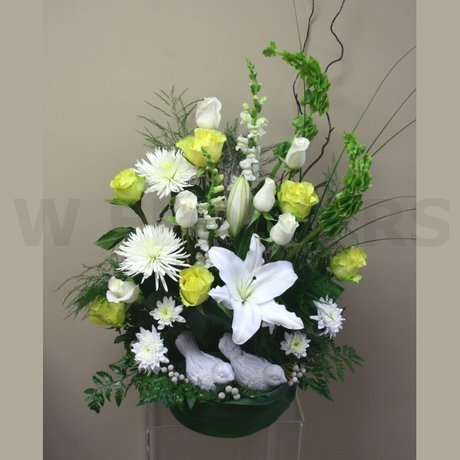 W Flowers product: Peacefulness funeral flowers