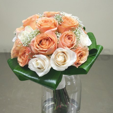 W Flowers product: Peach Bridal Bouquet