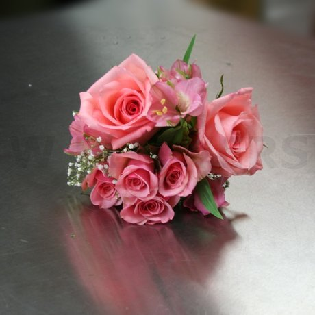W Flowers product: Peach roses Bridesmaid Bouquet