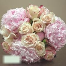 W Flowers product category: Pink Peonies Bridal Bouquet