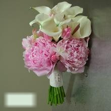 W Flowers product category: Pink Tulips Peonies and Calla Wedding Bouquet