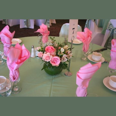 W Flowers product: Pink Wedding Centerpiece