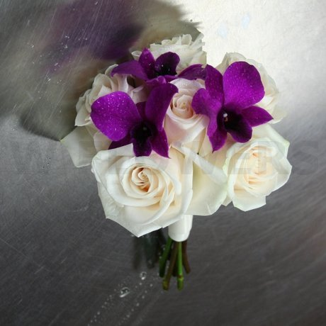 W Flowers product: Plum and Champagne bridesmaid bouquet