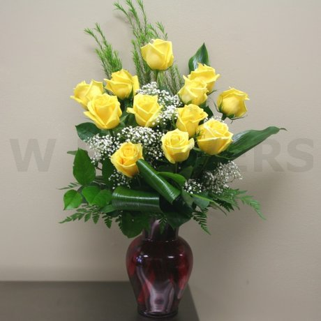 W Flowers product: Premium Roses in a Vase