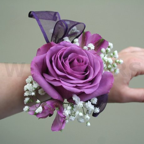 W Flowers product: Prom Corsage with Purple Rose